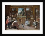 A visit to the Art Dealer by Frans II the Younger Francken