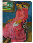 Woman sitting on a rocking chair by Paul Gauguin