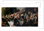 A Banquet of the Officers of the St. George Militia Company by Frans Hals
