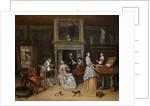 Fantasy Interior with Jan Steen and the Family of Gerrit Schouten by Jan Havicksz. Steen