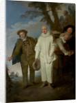 The Italian Comedians by Jean Antoine Watteau
