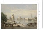 The Harbor of La Rochelle, 1851 by Jean Baptiste Camille Corot