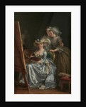 Self-Portrait with Two Pupils, Marie Gabrielle Capet and Marie Marguerite Carreaux de Rosemond, 1785 by Adelaide Labille-Guiard