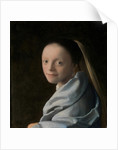 Portrait of a Young Woman, c.1663-65 by Jan Vermeer