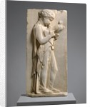 Marble Grave stele of a little girl, c.450-440 BC by Greek