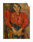 Woman in Red Blouse, c.1919 by Chaim Soutine