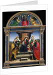 Madonna and Child Enthroned with Saints, c.1504 by Raphael