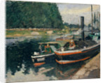 Barges at Pontoise, 1876 by Camille Pissarro