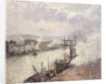Steamboats in the Port of Rouen, 1896 by Camille Pissarro
