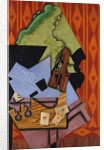 Violin and Playing Cards on a Table, 1913 by Juan Gris