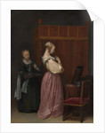 A Young Woman at her Toilet with a maid, c.1650-51 by Gerard ter Borch or Terborch