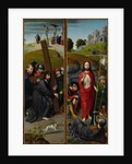 Christ Carrying the Cross, with the Crucifixion by Gerard David