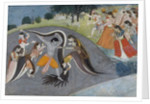 Krishna Subduing Kaliya, the Snake Demon, c.1785 by Indian School