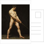 Study of a nude man, c.1810-20 by French School
