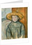 Boy with a Straw Hat, 1896 by Paul Cezanne