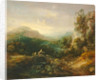 Mountain landscape with bridge by Thomas Gainsborough