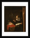 Young Woman at a Cradle, 1652-62 by Nicolaes Maes