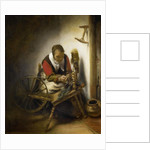 The Spinner, a Niddy-noddy Hanging on the Wall, 1652-62 by Nicolaes Maes