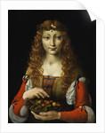 Girl with Cherries, c.1491-95 by Giovanni Ambrogio de Predis