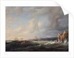 Bark Beating to Windward at Kullaberg, 1849 by Marcus Larson