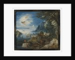 Landscape with the Fall of Icarus by Joos or Josse de The Younger Momper