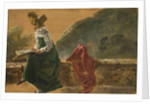 Princess Caroline Amalie Sketching in Naples. Study, 1820 by Johan Christian Dahl
