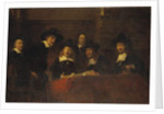 Staalmeesters, After Rembrandt, 1876-77 by Ernst Josephson