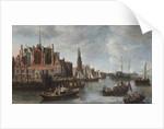 View of Nieuwe Kerk in Amsterdam by Anthonie Beerstraten