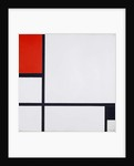 Composition No. I, with Red and Black, 1929 by Piet Mondrian