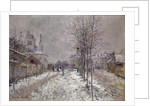 The Snow-Covered Boulevard de Pontoise in Argenteuil, 1875 by Claude Monet