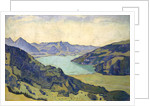 View of the Lake of Thun from Breitlauenen, 1906 by Ferdinand Hodler