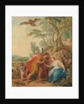 Jupiter, Disguised as a Shepherd, Seducing Mnemosyne, the Goddess of Memory, 1727 by Jacob de Wit