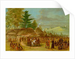 Chief of the Taensa Indians Receiving La Salle, 1847/8 by George Catlin