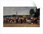 Fair in Brittany, 1874 by Eugene Louis Boudin
