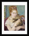 Woman with a Cat by Pierre Auguste Renoir