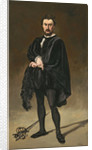 The Tragedian Actor (Rouviere as Hamlet) by Edouard Manet