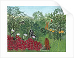 Tropical Forest with Monkeys by Henri J.F. Rousseau
