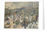 Boulevard des Italiens, Morning, Sunlight by Camille Pissarro
