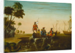 The Landing of Columbus by Edward Hicks