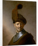 An Old Man in Military Costume by Rembrandt Harmensz. van Rijn