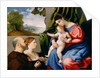 Madonna and Child with Two Donors by Lorenzo Lotto