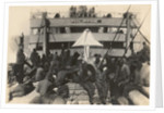 Pioneer Infantry Battalion on the troop ship U.S.S. Philippine from Brest harbor by American Photographer