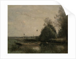 A Pond in Mortain by Jean Baptiste Camille Corot