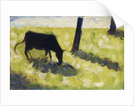 Black Cow in a Meadow by Georges Pierre Seurat