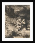 The Agony in the garden by Rembrandt Harmensz. van Rijn