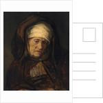 Head of an Aged Woman by Rembrandt Harmensz. van Rijn