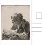 Woman Reading by Rembrandt Harmensz. van Rijn
