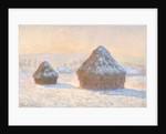 Wheatstaks, snow Effect, Morning by Claude Monet