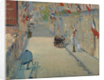 The Rue Monsier with Flags by Edouard Manet