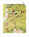 Detail from Europe and Central Asia by Battista Agnese